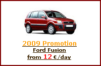 Click here to book a Ford Fusion with Iberia Car Hire